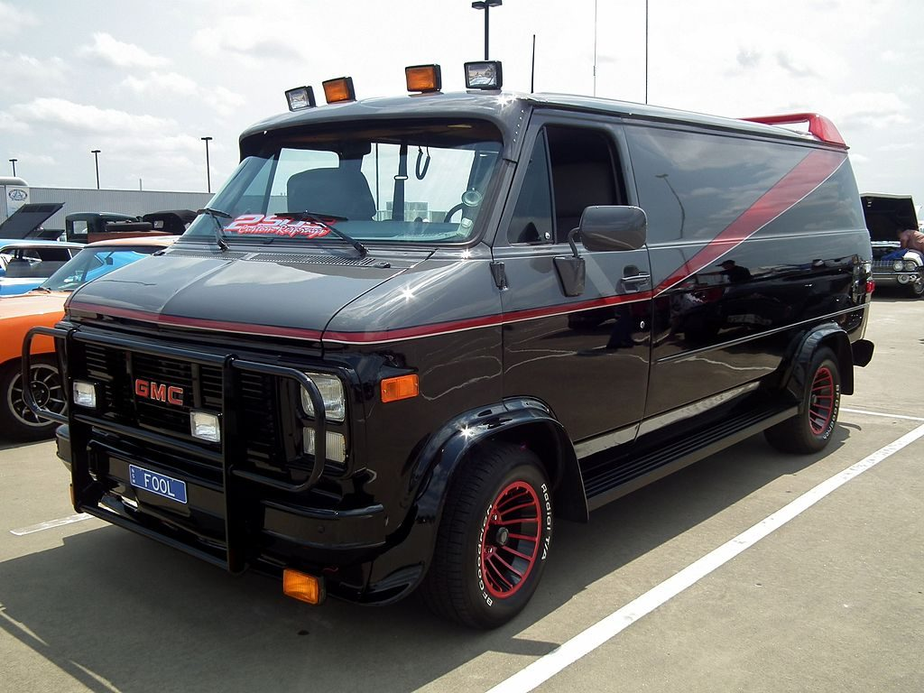 A Picture of the A Team Van in a parking lot.