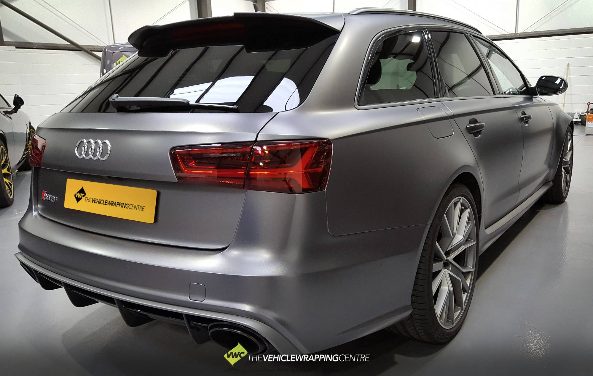 Audi Rs6 Satin Dark Grey Personal Vehicle Wrap Project
