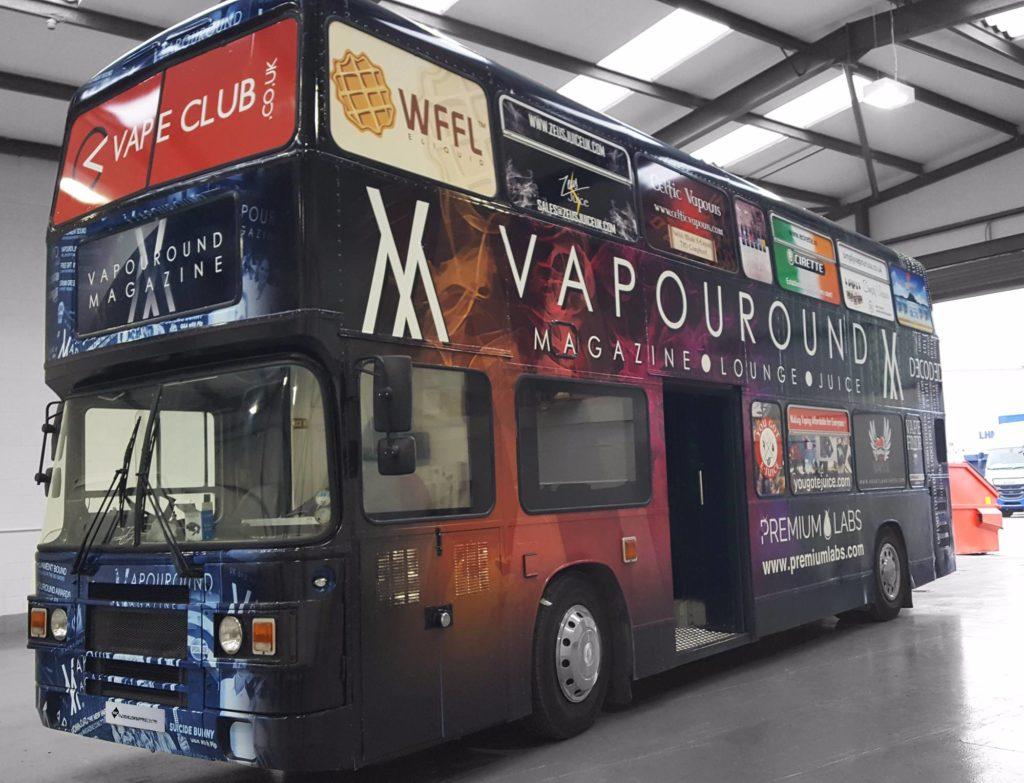 Vapouround Magazine Bus Wrap Commercial Vehicle Wrap Project