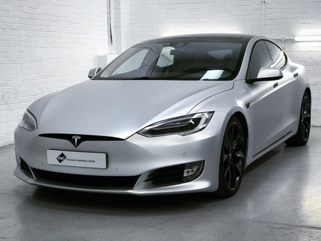 Tesla Model S Satin White Aluminium Personal Vehicle