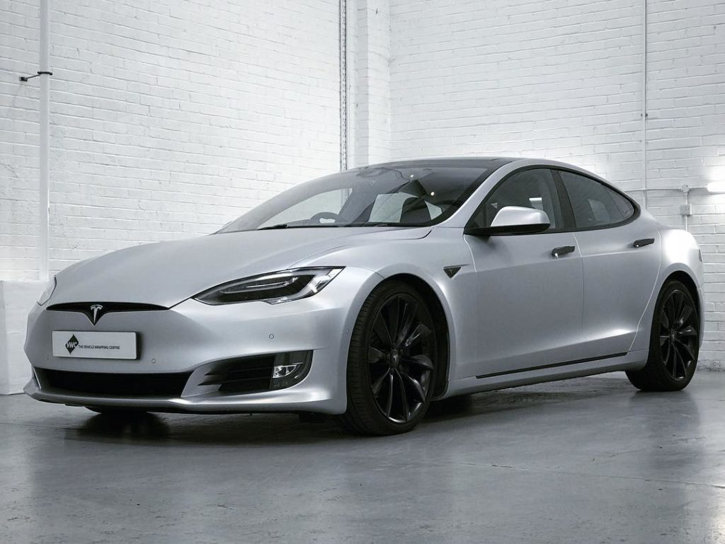 Tesla Model S Satin White Aluminium Personal Vehicle