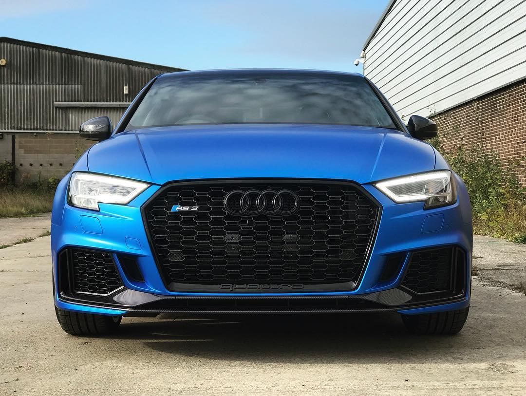 Audi Rs3 Full Exterior Wrap Carbon Fibre Gloss Detailing Front