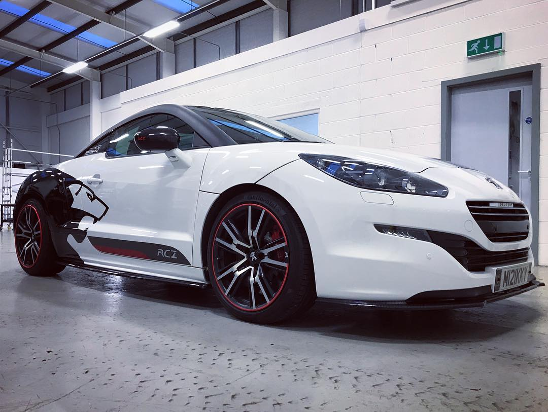 Peugeot Sport Wrap For This Rcz Personal Vehicle Wrap Project