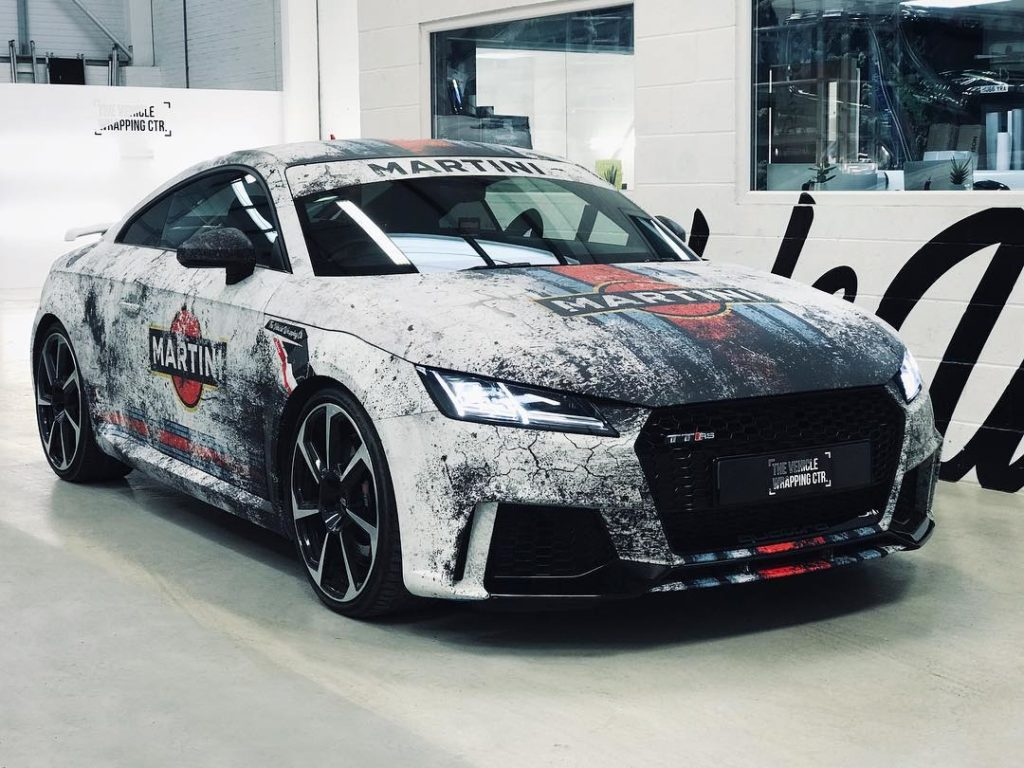Audi Ttrs Full Digitally Printed Distressed Martini Wrap