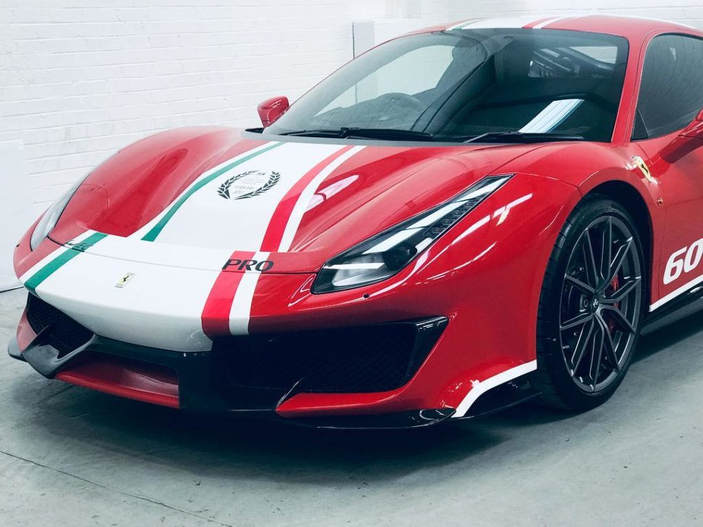 Ferrari 488 Pista Special Stripe Decals Personal Vehicle