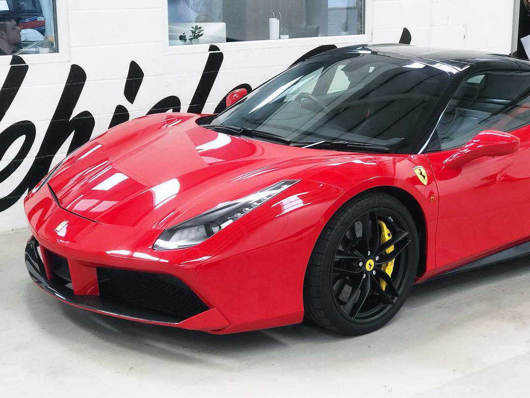 Ferrari 488 Spider Roof Sill Wrap Personal Wrapping Project