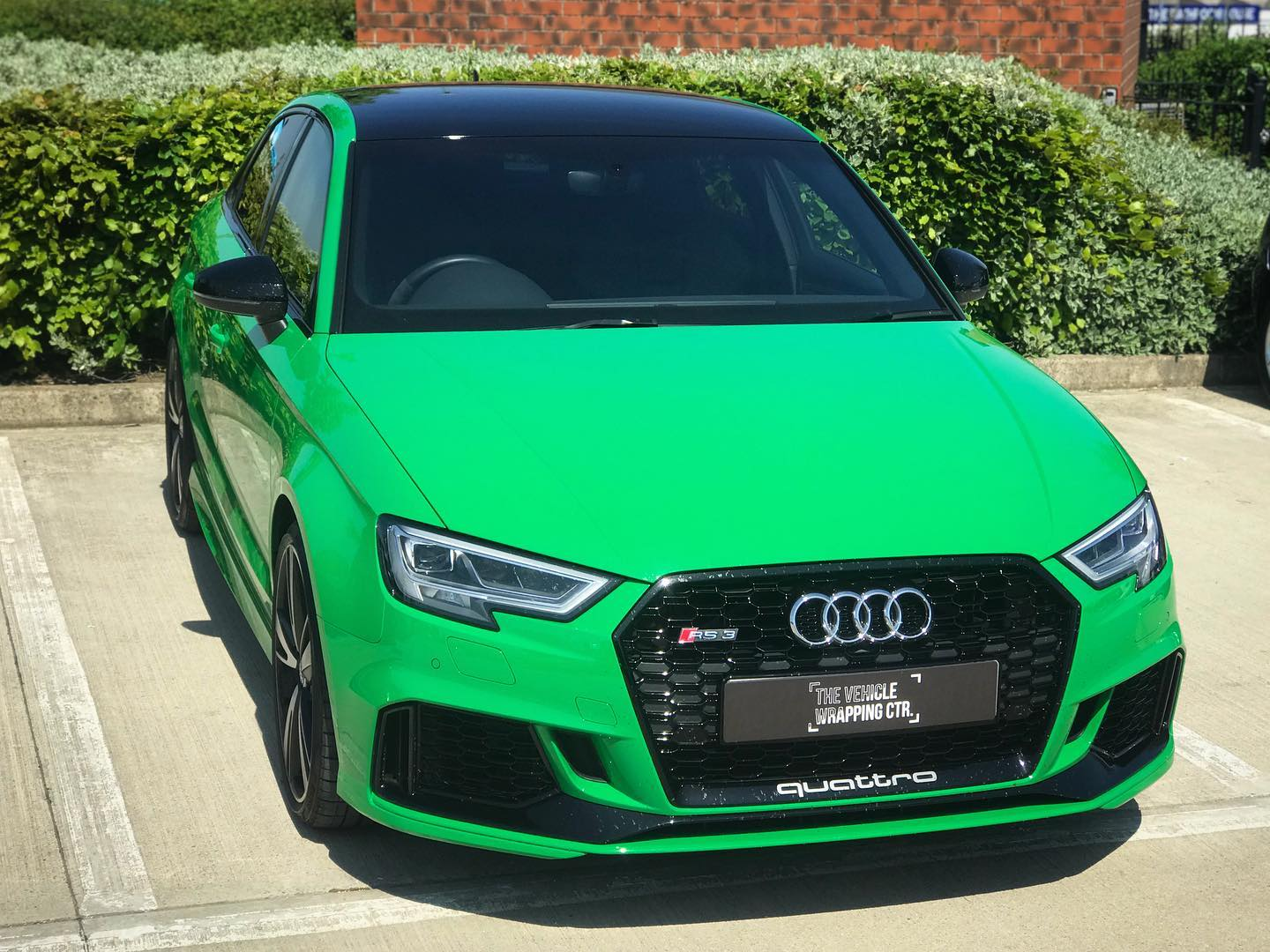 Audi Rs3 Roof Wrap In Gloss Black Personal Vehicle Wrap Project