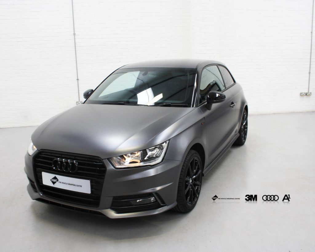 Audi A1 3m Satin Dark Grey Personal Vehicle Wrap Project