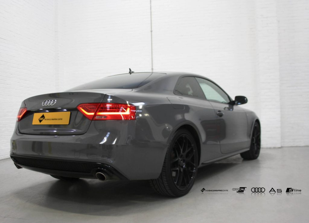 Audi A5 Oracal Gloss Dark Grey Personal Vehicle Wrap Project
