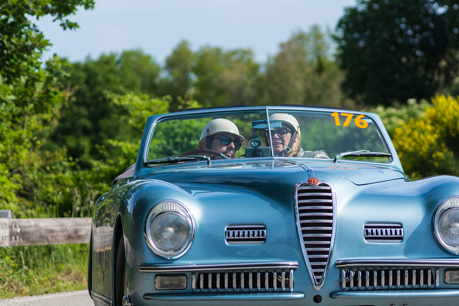 A picture of an Alfa Romeo at the Yorkshire Hill Climb.