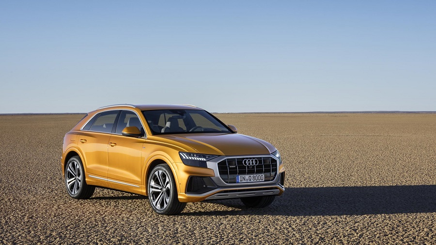 New Audi Q8 in desert