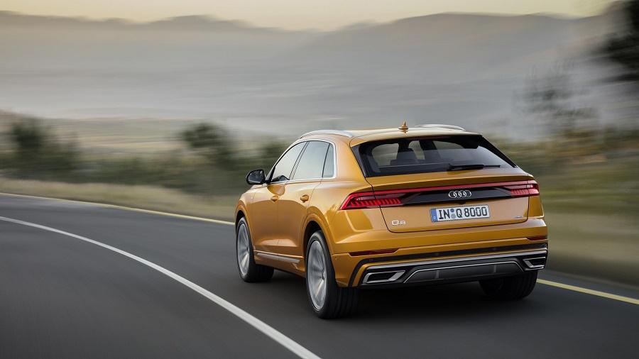 Audi Q8 on the road