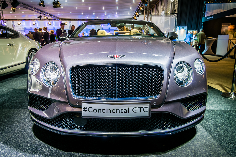 Luxury car Bentley Continental GTC V8S since 2016. International Exhibition InterClassics & Topmobiel 2016