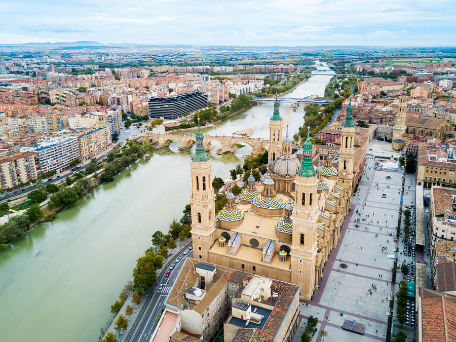 The Cathedral Basilica in Zaragoza, Aragon.