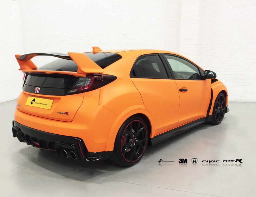 Honda Civic 3m Matte Orange Personal Vehicle Wrap Project