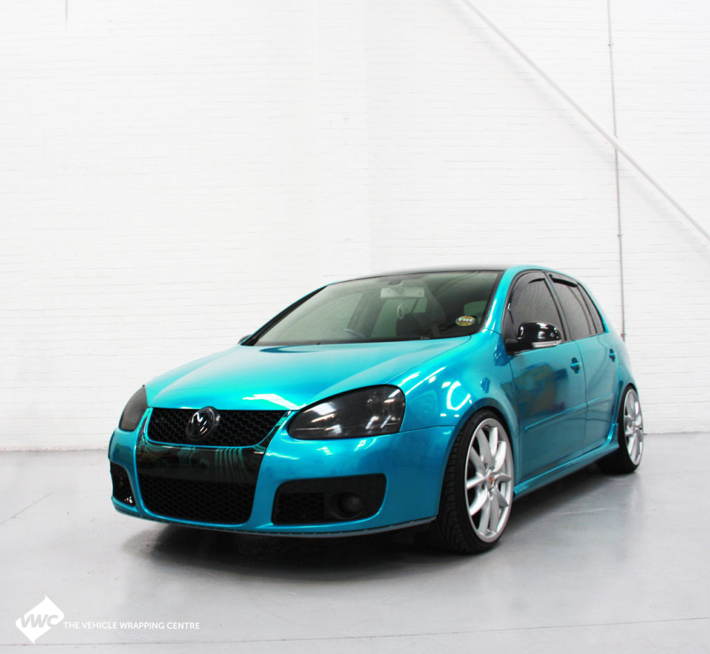 VW Golf 3M 1080 Gloss Atomic Teal Personal Vehicle Wrap Project