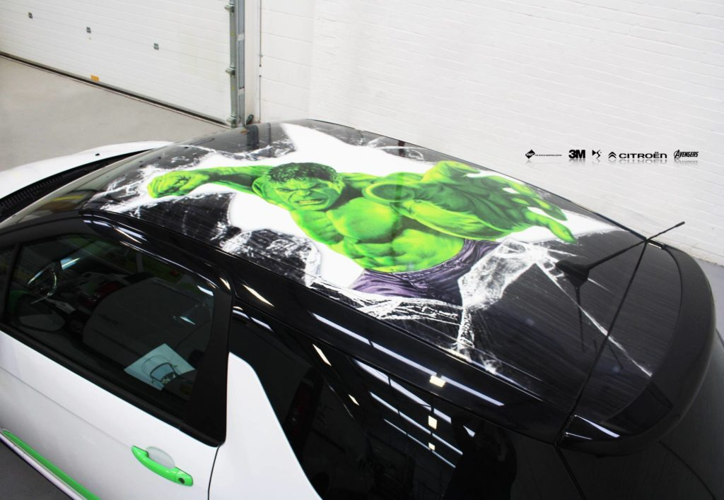 Ds3 Hulk Roof Wrap Printed On 3m Ij180 Personal Vehicle