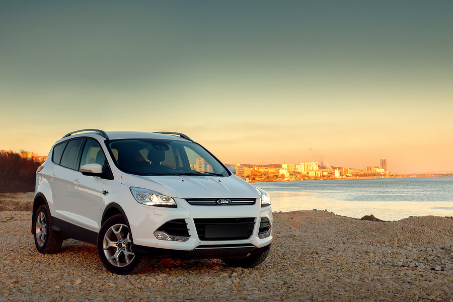 A Ford Kuga by the beach.