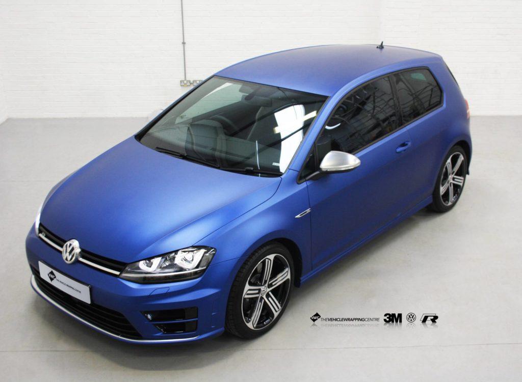 Vw Golf R 3m Matte Slate Blue Personal Vehicle Wrap Project