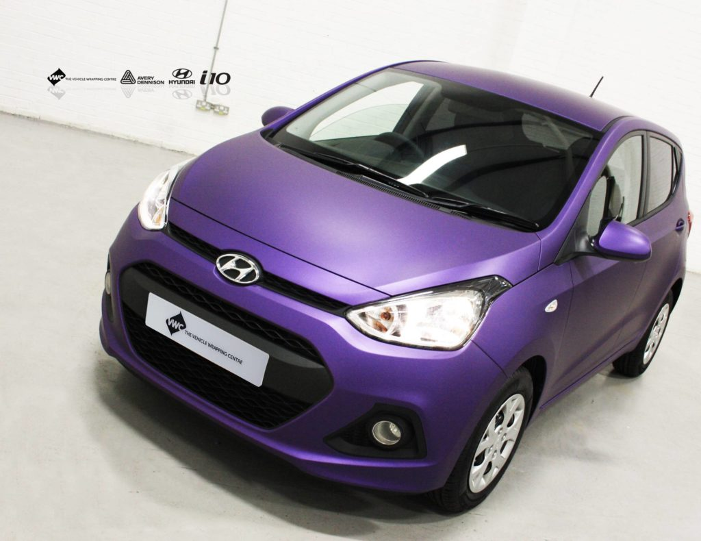 Hyundai I10 Avery Matte Metallic Purple Personal Vehicle