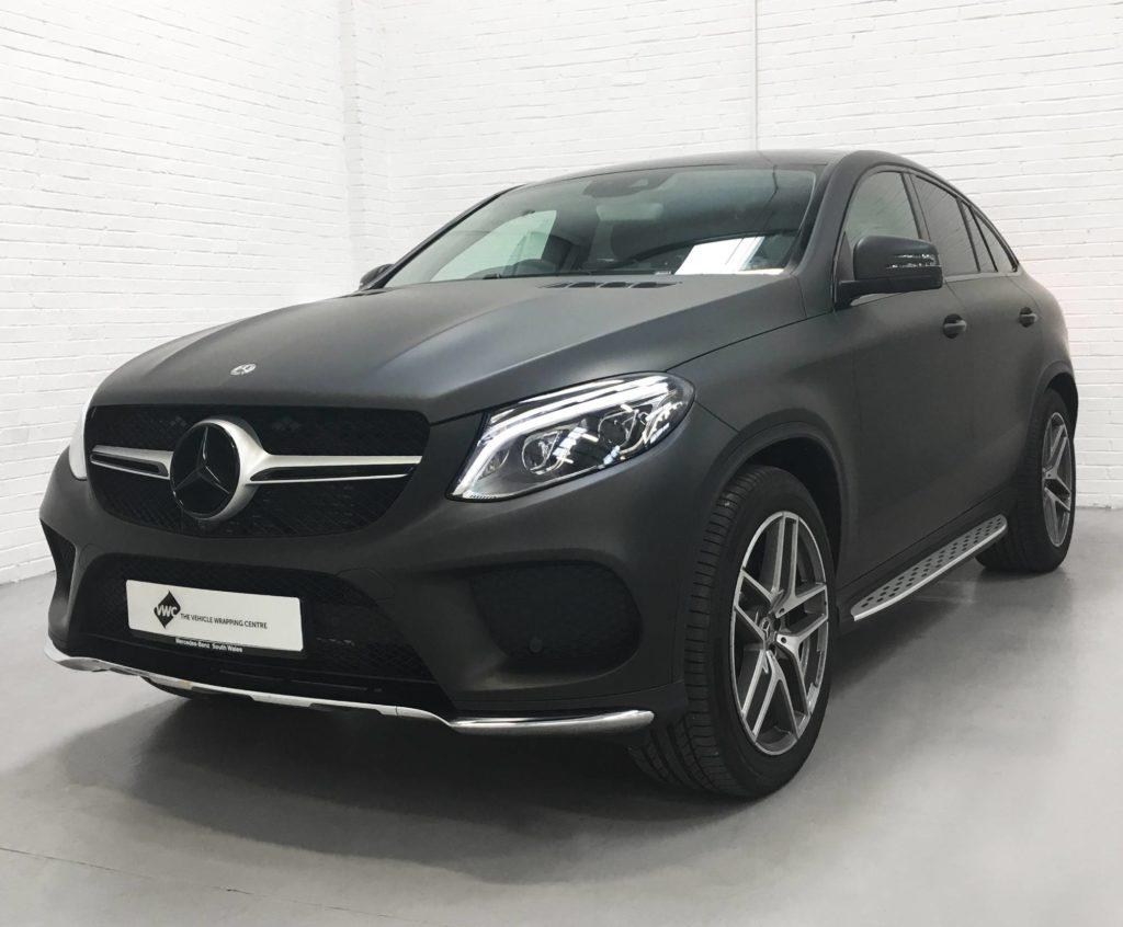 Mercedes Benz Gle 3m Matte Black Personal Vehicle Wrap