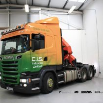 C I S Industrial Scania Commercial Vehicle Wrap Project