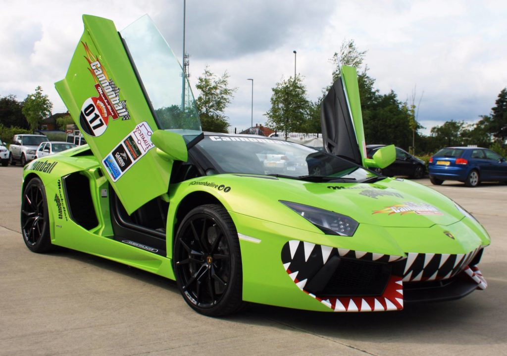 Lamborghini Aventador Sharks Teeth Personal Vehicle Wrap