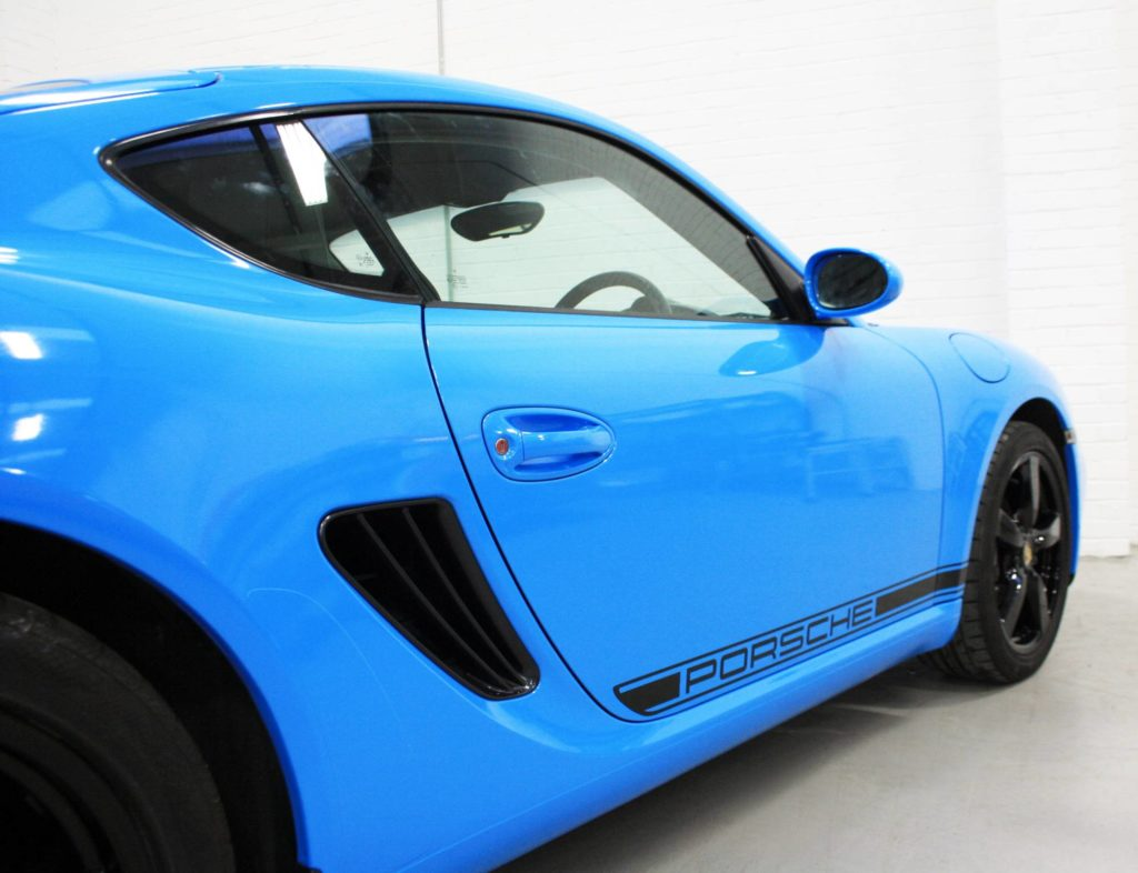 Porsche Cayman Avery Light Blue Personal Vehicle Wrap