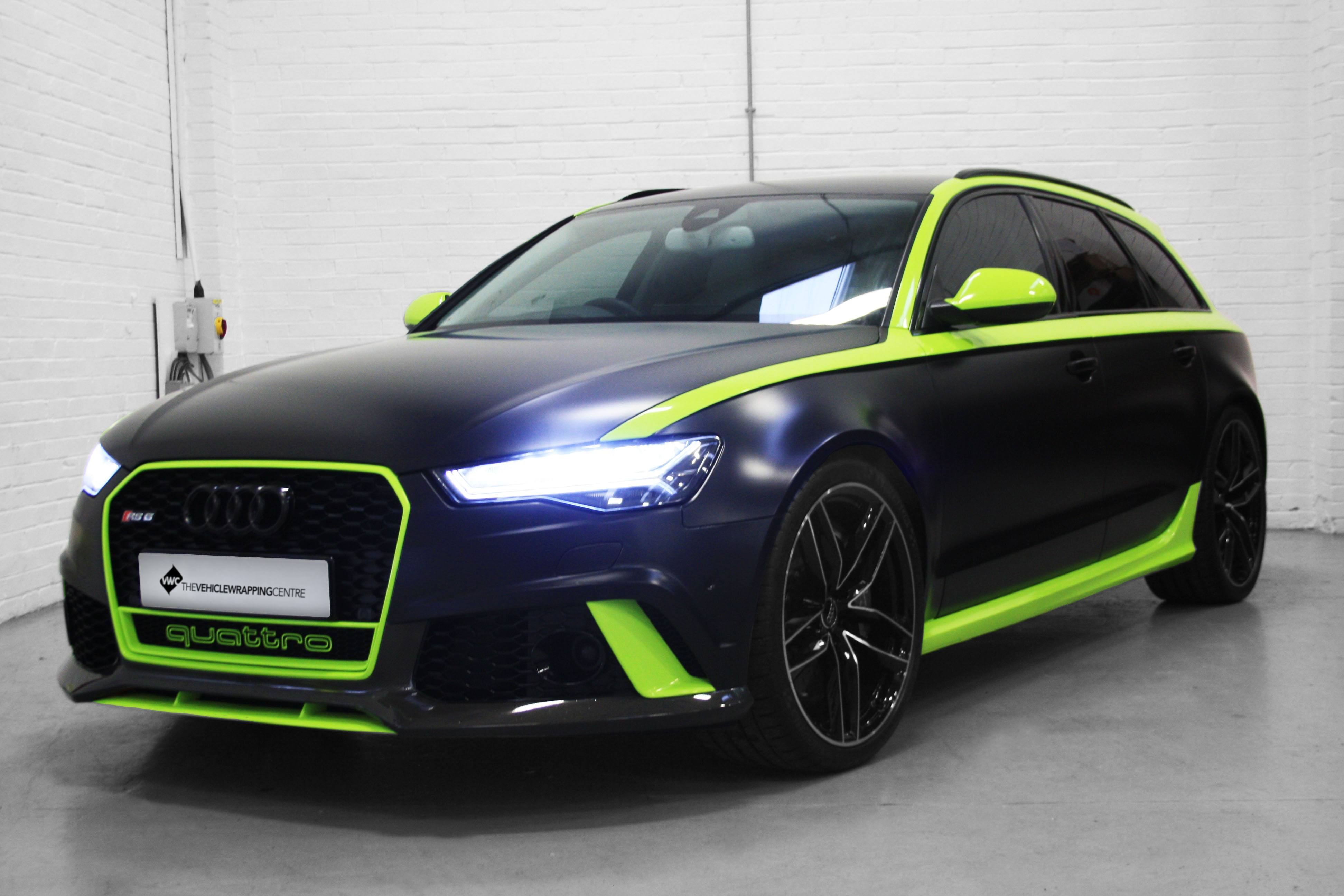 Audi RS6 Avery Dennison Satin Black Amp Lime Green