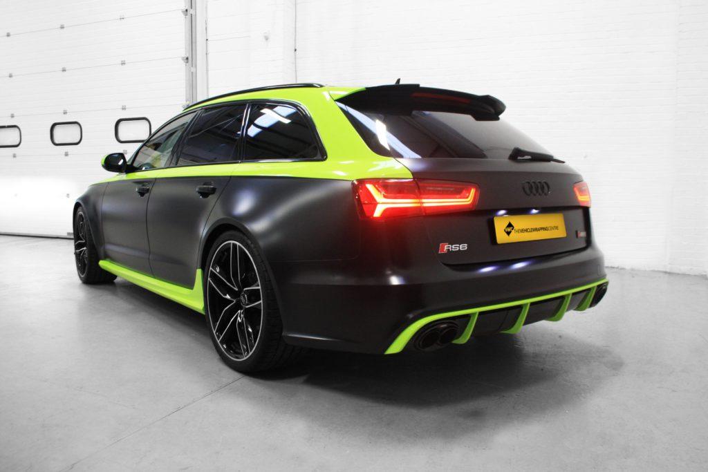 Audi Rs6 Avery Dennison Satin Black Amp Lime Green