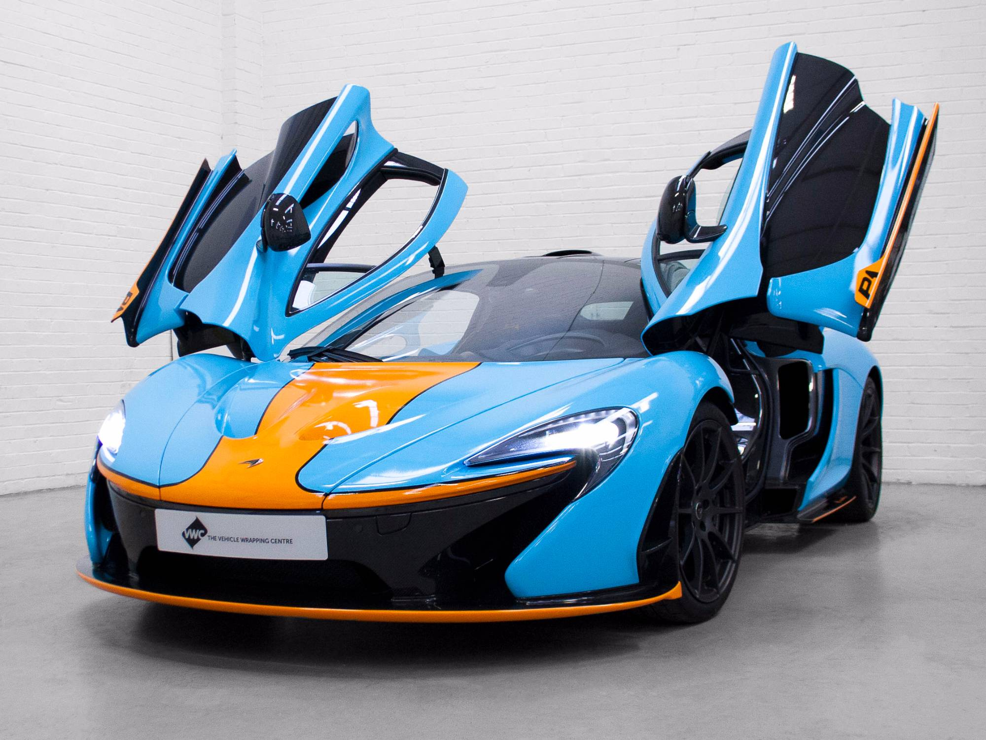 Mclaren P1 Gulf Racing Livery Personal Vehicle Wrap Project