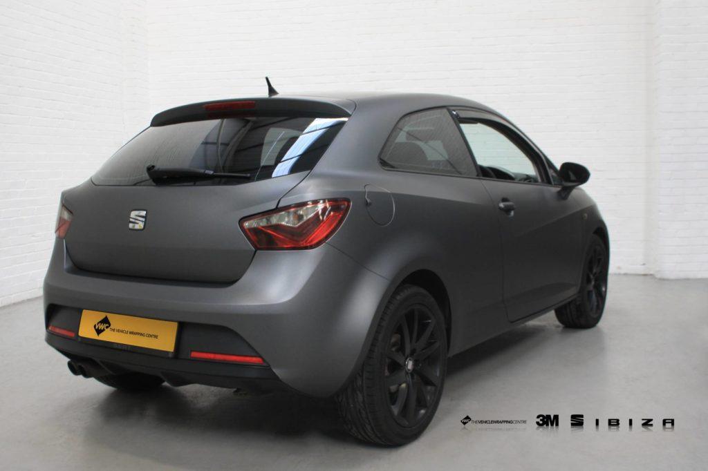 Seat Ibiza 3m Matte Metallic Dark Grey Personal Vehicle
