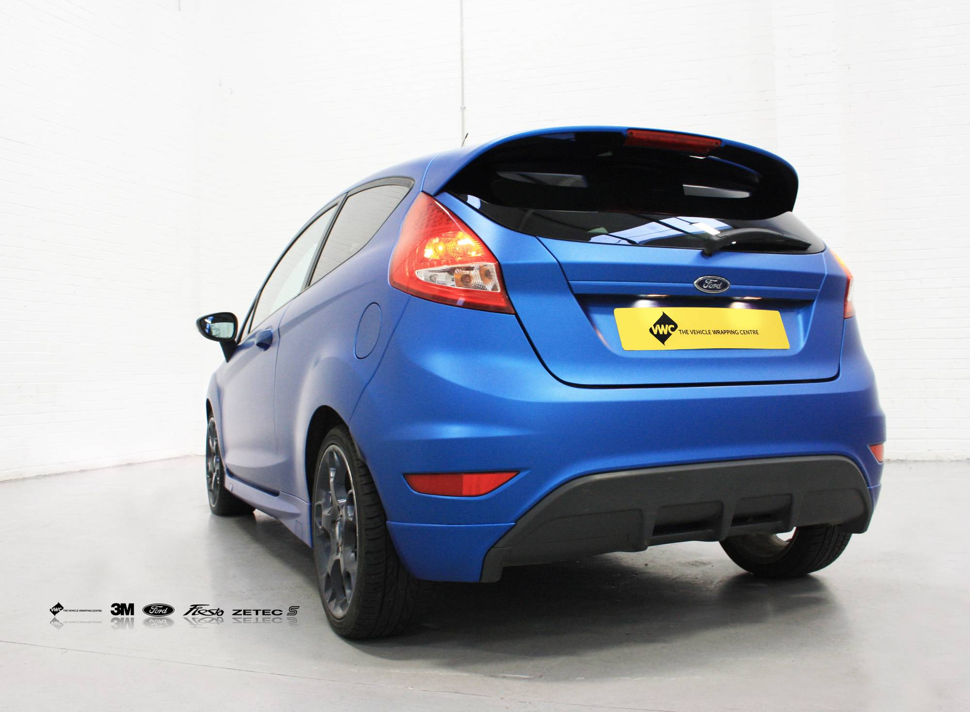 Ford Fiesta 3m Matte Metallic Blue Personal Vehicle Wrap