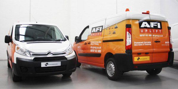 Orange and white fleet wrap - AFI uplift