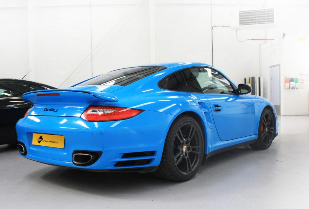 Porsche 911 Blue Personal Vehicle Wrap Project