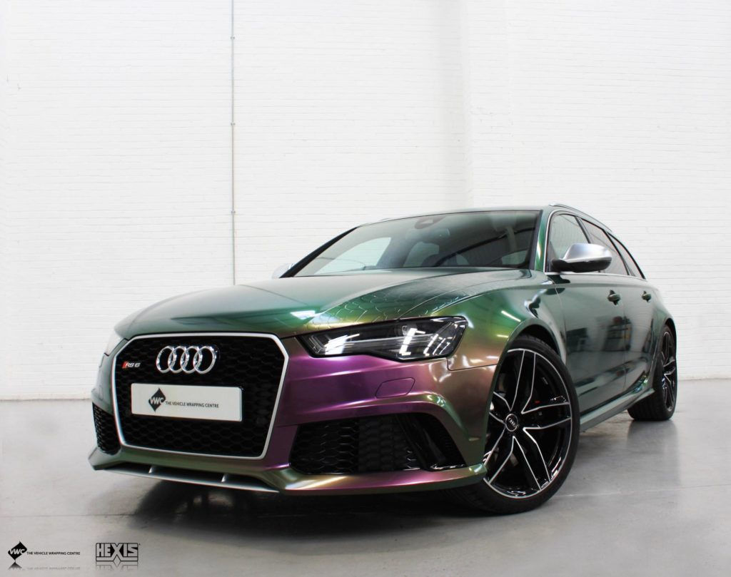 Audi Rs6 Hexis Vario Chrome Personal Vehicle Wrap Project