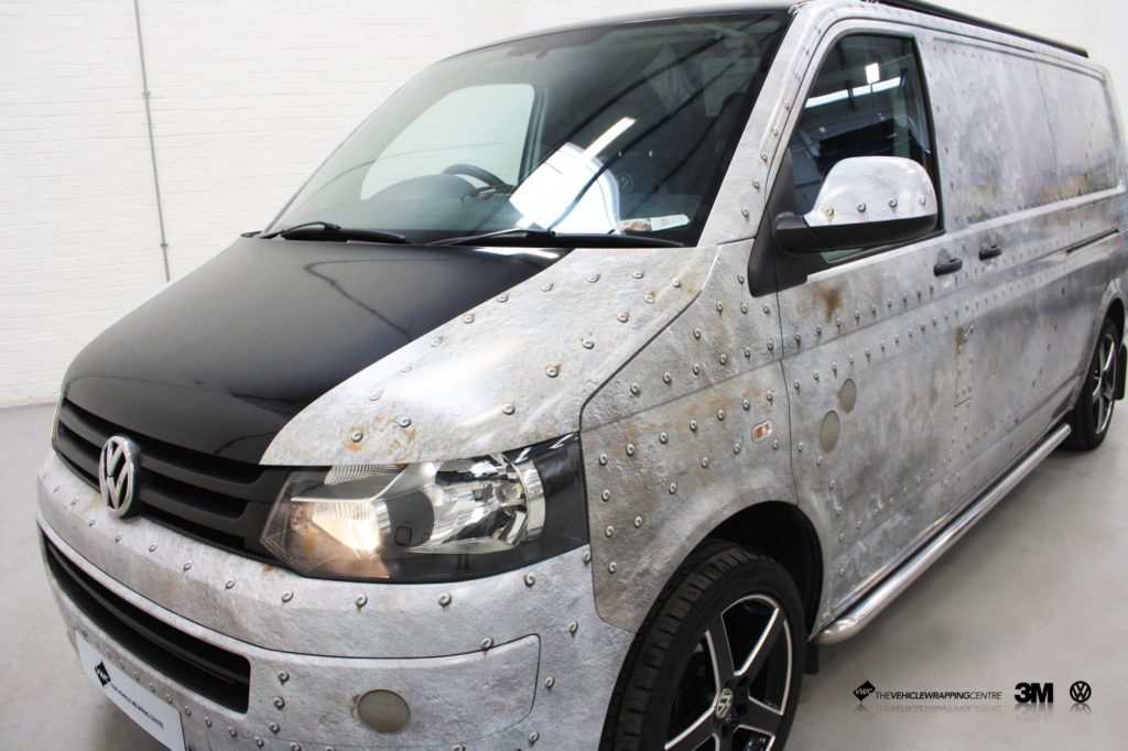 Vw T5 Riveted Pannel Wrap Personal Vehicle Wrap Project