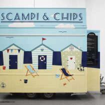 Scampi Amp Chips Trailer Commercial Vehicle Wrap Project