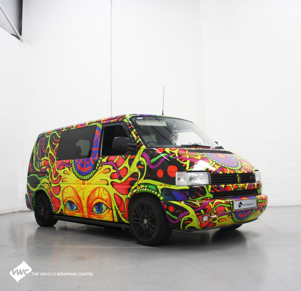 Vw T4 Psychedelic Personal Vehicle Wrap Project
