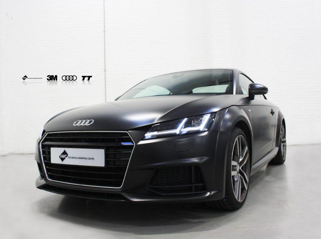 Audi Tt 3m Satin Black Personal Vehicle Wrap Project