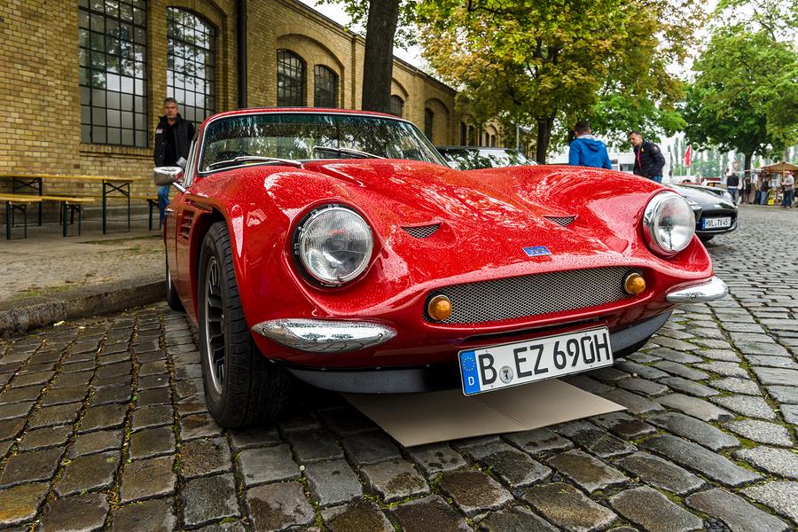 """BERLIN - MAY 13 2017: Sports car TVR Vixen V8 1969. Exhibition """"Oldtimertage Berlin-Brandenburg""""."""