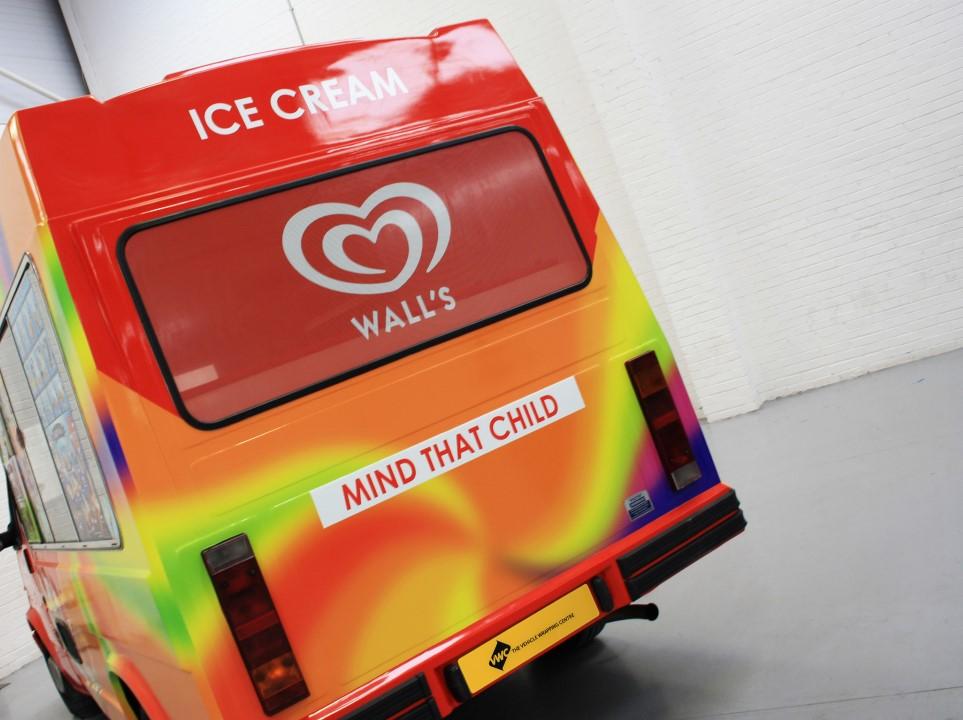Walls Ice Cream Van Commercial Vehicle Wrap Project