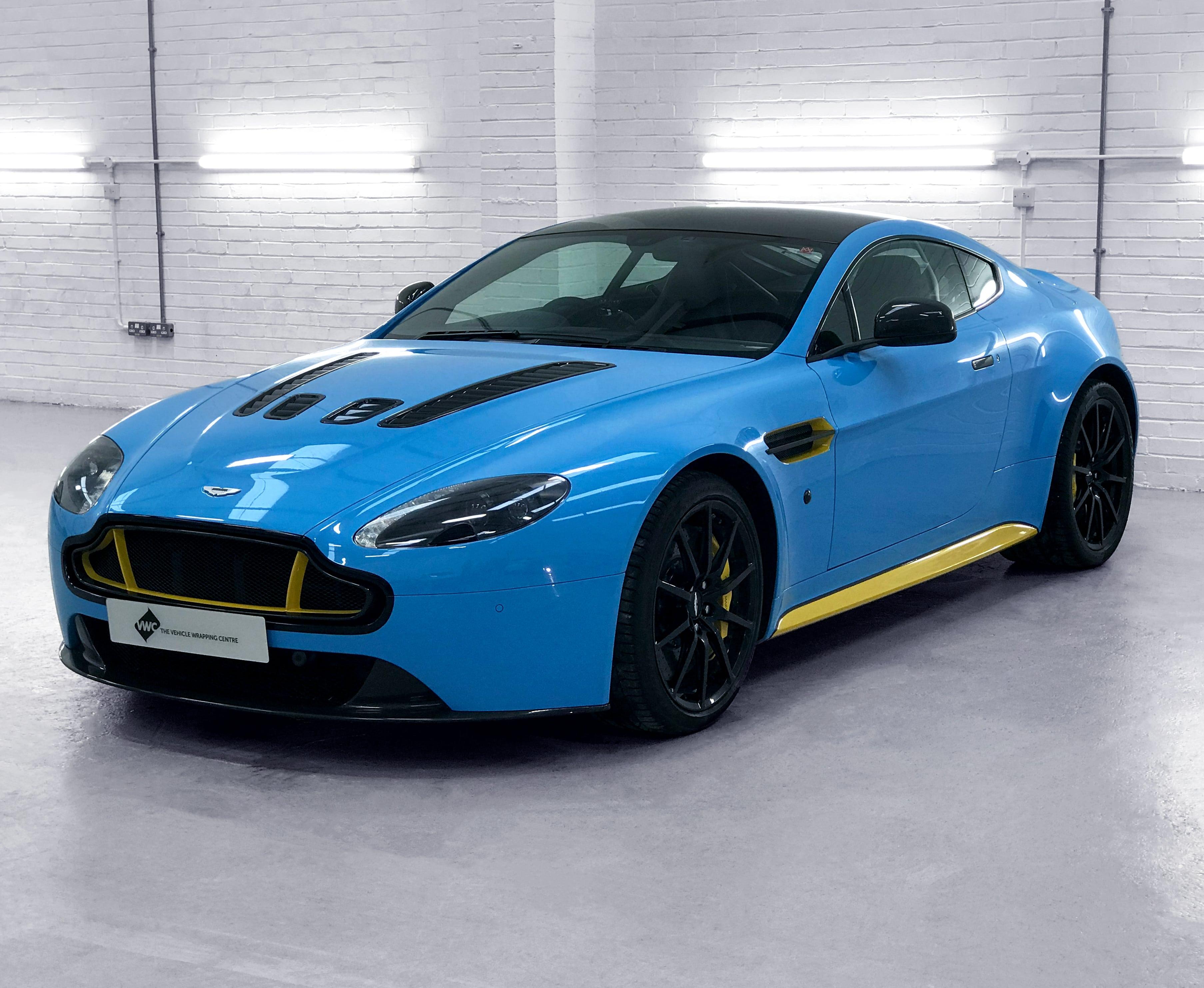 Aston Martin V12 Vantage Hexis Gloss Yellow Personal