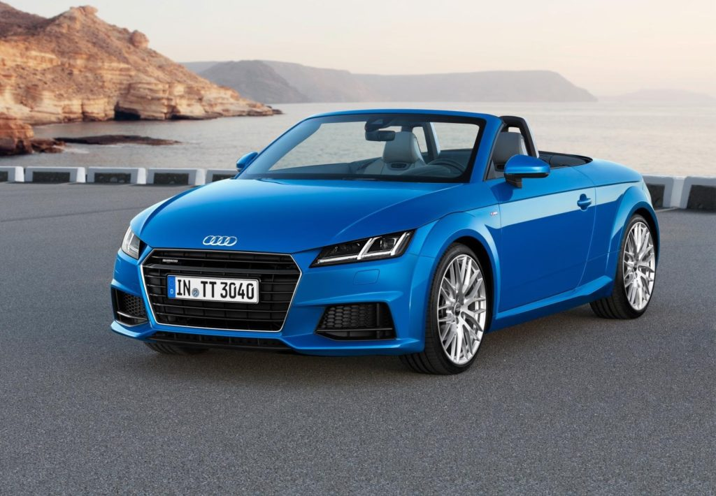 A parked Audi TT Roadster.