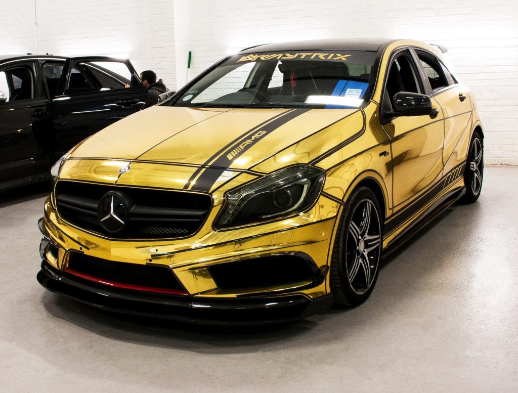 Mercedes Benz A45 Avery Dennsion Gold Chrome Personal