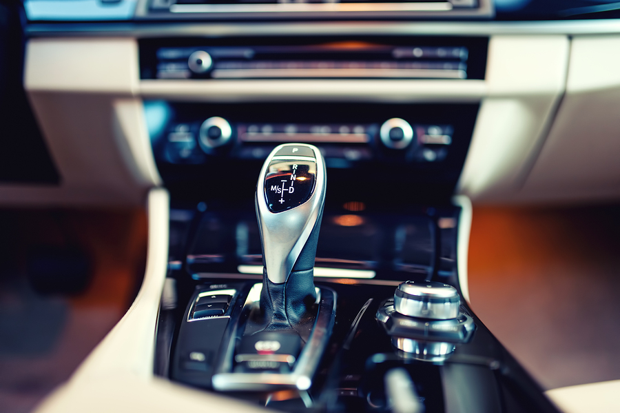Automatic Gear Shifter In A New, Modern clean car