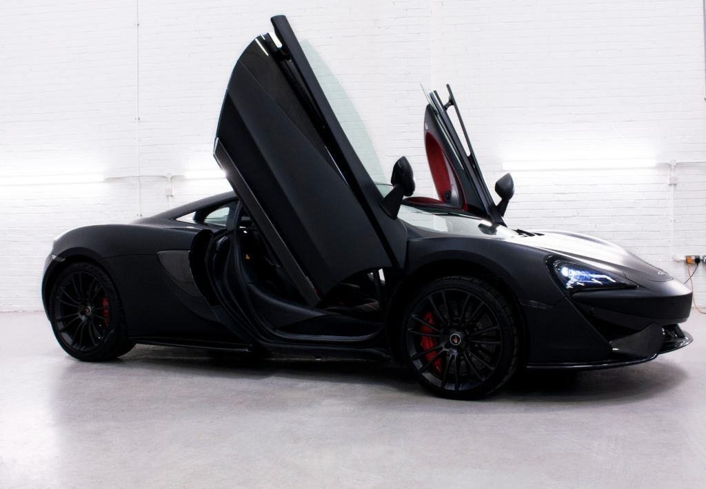 McLaren 570s - 3M Deep Matte Black Personal Vehicle Wrap ...