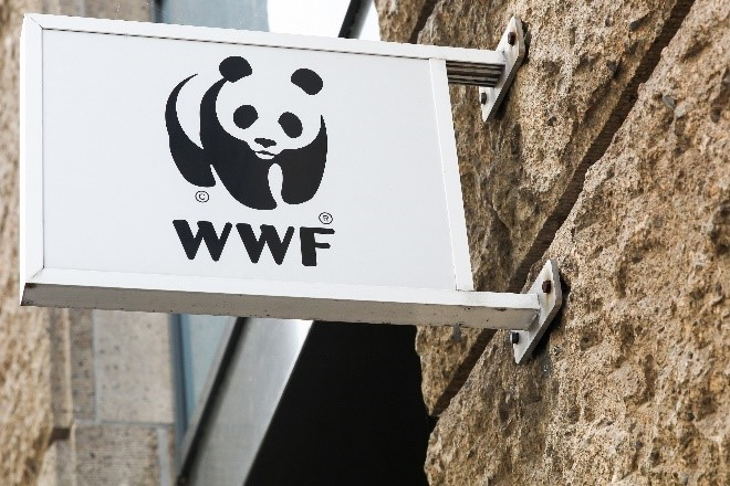 WWF black and white logo