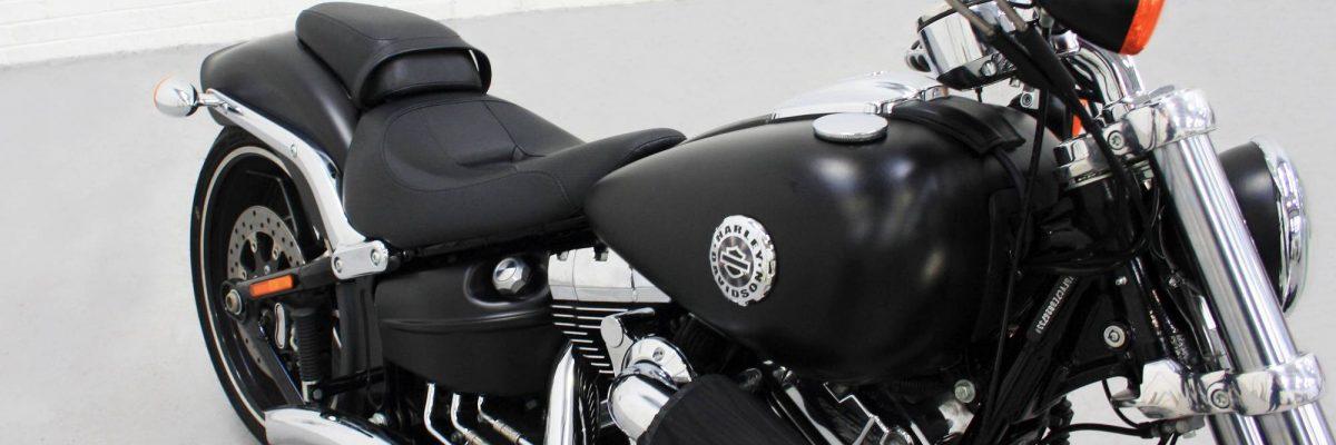 Black matte motorbike wrap