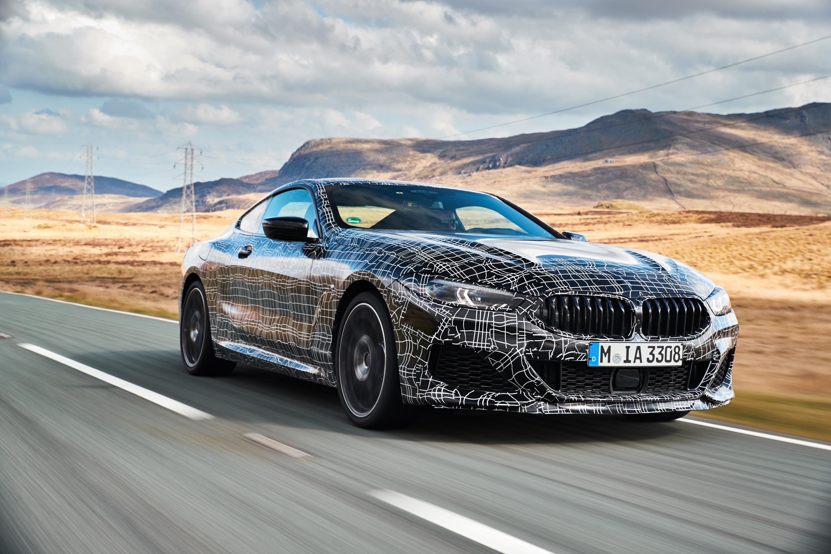 BMW 8 Series Coupe driving
